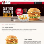 Free Upgrade to Cheese Fries with Zinger Stacker Meals - $8.95 (U.P. $13.40) at KFC