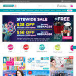 $28 off ($108 Min Spend) or $58 ($208 Min Spend) Sitewide at Watsons