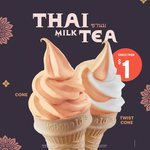 Thai Milk Tea Cone for $1 at McDonald's