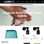 Free Standard Delivery over $60 @ Lush Cosmetics