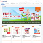 Free 2 in 1 Scooter (Worth $98) with $200 Min Spend on Participating Huggies Products at FairPrice On