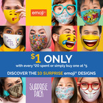 $1 Emoji Face Mask with Every $20 Spent at Cold Storage