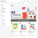 Free Tiger Food Jar with $158 Min Spend on Participating Huggies Products at FairPrice On