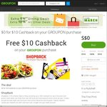 Groupon - New Shopback Customers Get Up To $10 Shopback Cashback ($5 + $5 with Groupon purchase)
