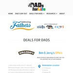 Ben and Jerry's Mix and Match Ice Cream for Dads $11.90 (U.P. $16.90), 1-30 June with Facebook Like (3 Locations)