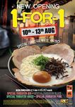 1 for 1 Tonkotsu Ikkyu Ramen at Ramen Champion (Clarke Quay Central) [from $14.80]