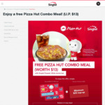 Get a Free Pizza Hut Combo Meal with Topup/ Purchase of Singtel Prepaid Sim Card