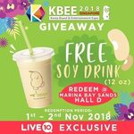 Free 12oz Soy Drink from Mr Bean via Qoo10 (Redeem at KBEE, Marina Bay Sands Hall D) [Live10 App Required]