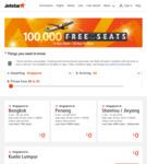 Jetstar 100,000 Free Seat Sale: Okinawa $59, Haikou/Sanya $65, Taipei $72, Bangkok $81, Hong Kong $93, Darwin $160 Return + More