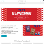 60% off Sitewide Plus Limited Edition Gifts When You Spend Over $175 at MyProtein