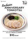Tonkotsu Ramen for $10/Bowl at Ippudo