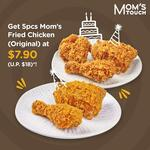 5pc Mom's Original Fried Chicken for $7.90 (U.P. $18) at MOM'S TOUCH