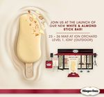Free White & Almond Stick Bar from Häagen-Dazs