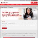 $30 Worth of Grab Promo Codes Free When Opening a CIMB FastSaver Savings Account