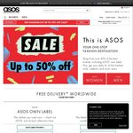 "ASOS ""Up to 50% off"" Sale"