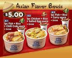 Rice Bowl and Regular Drink for $5 at Long John Silver's