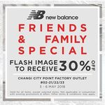 30% off Storewide at New Balance Factory Outlet (Changi City Point) [Friends & Family Special]