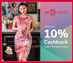10% Cashback on Purchases at Metro (Singtel Dash)