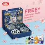 Free Japanese Style Bowl Set (Worth $19.80) with Min Purchase $28 on Participating UIC Products at FairPrice On