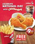 Get Free Large Fries for Every Purchase of 3pc Chickenjoy Rice Meal at Jollibee