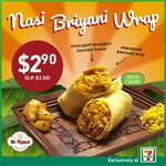Mr Popiah Nasi Briyani Wrap for $2.90 (U.P. $3.50) at 7-Eleven