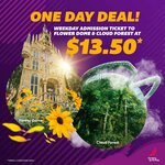 $13.50 (U.P $20) for Weekday Admission Ticket to Flower Dome and Cloud Forest at Gardens by The Bay