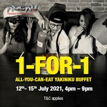 1 for 1 All You Can Eat Yakiniku Buffet with Drink Purchase ($29.90++) at ROCKU Yakiniku (Monday to Thursday, 4pm-9pm)