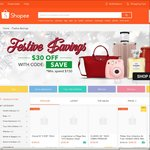 "$30 Off $150 Minimum Spend at Shopee in ""Festive Savings"" Category"