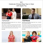 5% off (Min. $80 Spend) at Topshop, Topman, Dorothy Perkins and FOX Kids & Baby Stores (Wing Tai Retail Stores) [Apple Pay]