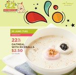 Mr Bean's Oatmeal with Riceballs $2.50 (22% Off)