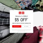 $5 off at UNIQLO Online (Minimum $60 Spend)