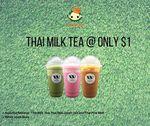 Thai Milk Tea, Milk Green Tea or Thai Pink Tea for $1 (U.P. $2.80) at Waan Cha via Lobang King Club App