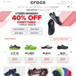 40% off Sitewide (Includes Sale Items) + Free Shipping on All Orders at Crocs [Cyber Monday Offer]