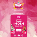 1 for 1 Frozen Yogurt (All Sizes) at Smöoy with FavePay via Fave App