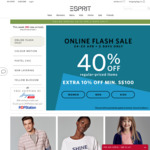 40% off at Esprit (Plus an Extra 10% off When Spending Over $100)