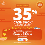 35% Cashback on RydePOOL & RydePET Rides with RYDE (6am-10am, Min $10 Fare, Mastercard/Visa)