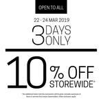 10% off Storewide at Isetan