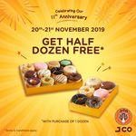 Buy 1 Dozen, Get Another Half Dozen Free at J.CO Donuts & Coffee