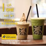 1 for 1 Float & Ice Blended Drinks at TSUJIRI (Centrepoint, Facebook/Instagram Required)