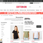 20% off All Personalisation at Cotton On