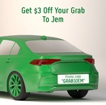 $3 off Grab Rides to JEM
