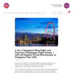 1-for-1 Singapore Sling Flight and Premium Champagne Flight Tickets
