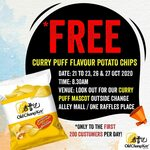 Free Curry Puff Flavour Potato Chips from Old Chang Kee (Change Alley Mall/One Raffles Place)