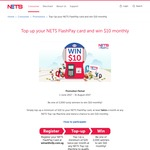 Win $10 Monthly (2,000 Winners) from NETS - Top up $20 or More to NETS FlashPay at Least Twice