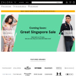 20% off Sitewide at Zalora ($100 Minimum Spend)