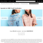 20% off Storewide with Minimum Spend of $130 at Zalora [HSBC Credit Cards]