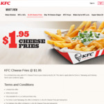 Add KFC Cheese Fries to Your Meal at $1.95