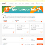 Jetstar Spontaneous Sale - HKG $156 Return + Plus Others [TODAY ONLY]