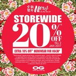 20% Off Storewide at OJ (Extra 10% Off Menswear for OGCM)