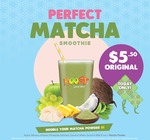 Original Sized Perfect Matcha Smoothie for $5.50 at Boost Juice